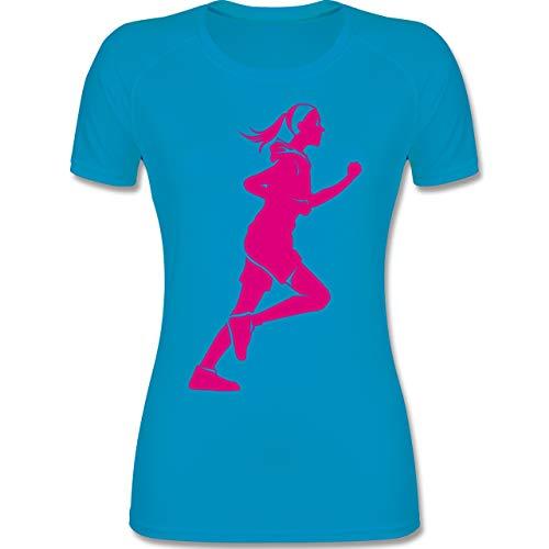 Shirtracer Laufsport - Läuferin - S - Himmelblau - Laufsport - F355 - atmungsaktives Funktionsshirt für Damen