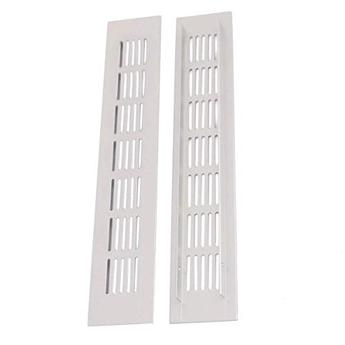 Saim Metal Air Vent Grille for Wardrobe Shoes Cabinet Sink Kitchen Stove Cabinet Showcase Computer Cabinet Bathroom Door Aluminum Alloy Small Rectangle Ventilation 50mmx300mm 3Pcs