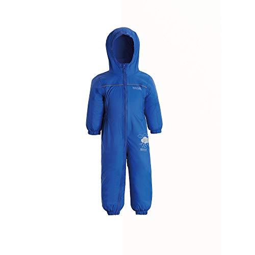 Regatta Unisex Kids Puddle IV All-in-One Anzug, Blue (Oxford Blue), 92 EU