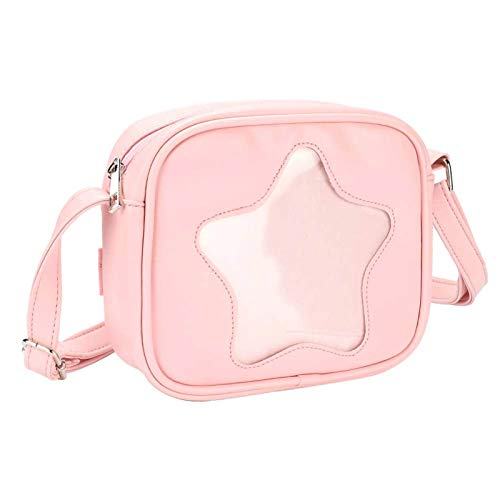 SteamedBun Ita Bag Cat Shaped Crossbody Ita Purse Cell Phone Wallet Shoulder Pins Bag with Insert