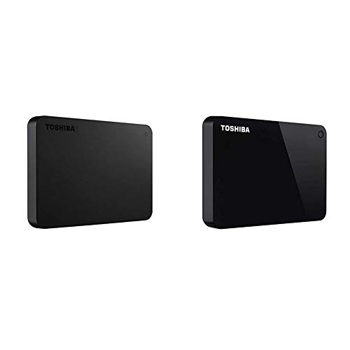Toshiba (HDTB420XK3AA) Canvio Basics 2TB Portable External Hard Drive USB 3.0, Black & (HDTC920XK3AA) Canvio Advance 2TB Portable External Hard Drive USB 3.0, Black