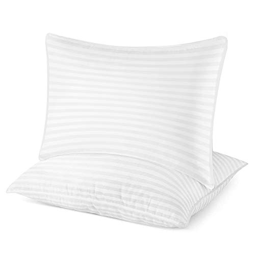 nobrand Luxury Plush Gel Bed Pillow for Home + Hotel Collection [Good for Side/Back Sleeper] Pillow is Washable(Pack of 2) - Queen Size 20 x 30 Inches