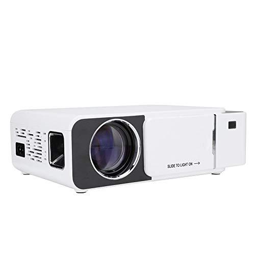 Led-projectoren, meertalige T6 480p projector, wit, met groot scherm, ondersteuning voor 1920 x 1080 hardware decoratie, interactief multiscreen wifi, 3 seconden boot, voor winkels, EU.