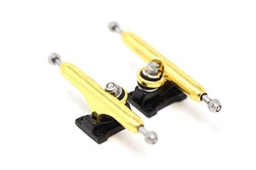 Skull Fingerboards Pro Fingerboard Trucks Gold/Black (32mm) - Single Axle // 6 Lock Nuts
