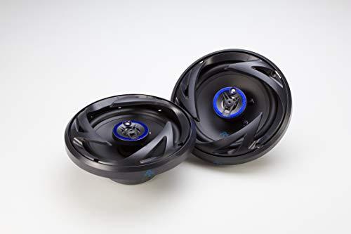 Autotek ATS653 6.5 Inch 3 Way Car Speakers (Black and Blue, Pair) - 300 Watt Max, 3 Way, Voice Coil, Neo-Mylar Soft Dome Tweeter, Pair of 2 Car Speakers