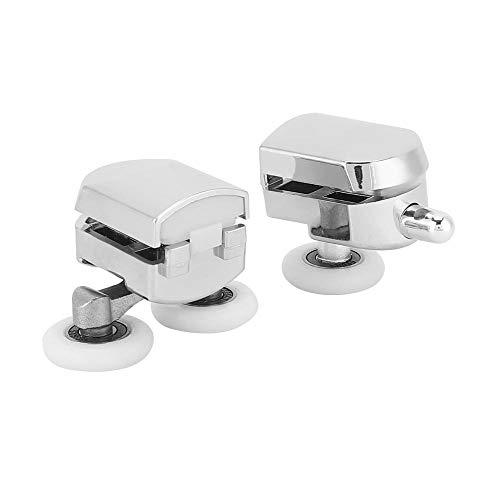 2-teiliges Badezimmer-Schienen-Türrad, Kunststoff-Galvanikrad-Gleitrolle, Schienen-Tür-Badezimmerglastürbeschläge