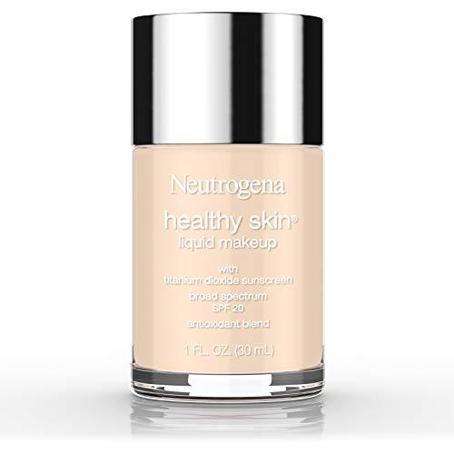 Neutrogena Healthy Skin Liquid Makeup Foundation, Broad Spectrum SPF 20 Sunscreen, Lightweight & Flawless Coverage Foundation with Antioxidant Vitamin E & Feverfew, Classic Ivory, 1 fl. oz