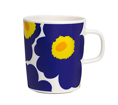 Marimekko - Oiva/Unikko - Tasse - Blau/Gelb - Ø8xH9,5cm - 2,5 dl