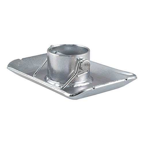 CURT 28272 Trailer Jack Foot, Fits 2-Inch Diameter Tube, Supports 2,000 lbs