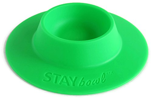 STAYbowl Tip-Proof Ergonomic Pet Bowl for Guinea Pig and Other Small Pets, 1/4-Cup Small Size, Spring Green