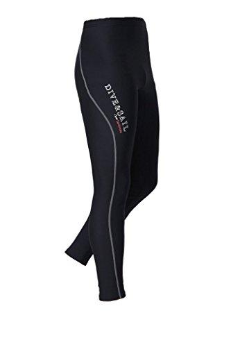 DIVE & SAIL Men's Wetsuit Pants 1.5mm Neoprene Diving Snorkeling Scuba Surf Canoe Pants (Grey Trim, Medium)