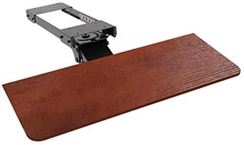 Bandeja para teclado Estante de almacenamiento de ajuste giratorio y de elevación multifuncional, Estante de almacenamiento de teclado ergonómico con rieles deslizantes, Se utiliza para almacenar el