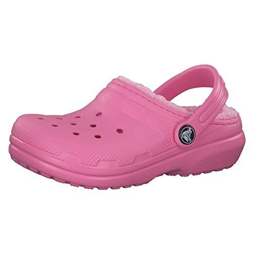 Crocs Classic Lined Clog K, Zuecos Unisex niños, Pink Lemonade, 19/20 EU