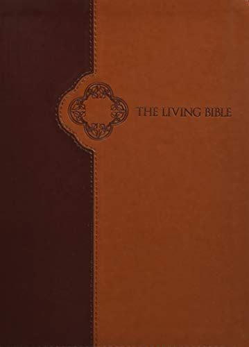 The Living Bible Large Print Edition, TuTone (LeatherLike, Brown Tan, Indexed)