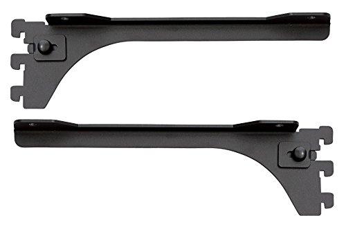 ウッドワン カナモノ フツウノ ブラック 棚板奥行き250・300mm用ブラケット 左右セット MKTTBS-2D-K