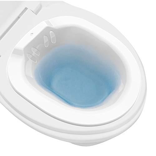 Sitzbad für die Toilette,Tragbares Sitzbadewanne für Hämorrhoidenbehandlung, Wochenbettpflege, Schwangere, Episiotomie und ältere Menschen,Bidet Privat Einsatz für Toilette,Anti-Überlauf-WC-Sitz