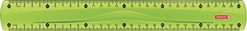 Brunnen 104973052 Lineal (für Schule und Büro Colour Code, 30 cm, mit Griffmulde, für Links- und Rechthänder) grün