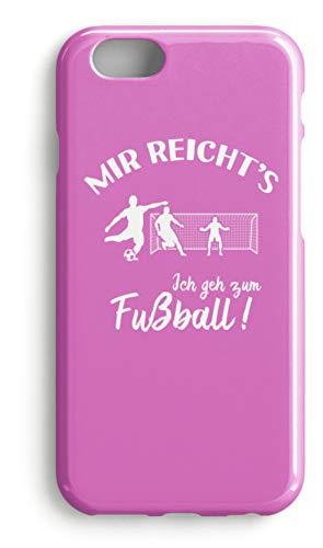 shirt-o-magic Handyhülle Fußballer: Ich geh zum Fußball! - Case -iPhone 7 Plus-Pink