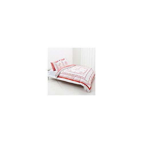 My Valentine - Juego de funda de edredón para cama de matrimonio, 100 % algodón, 4 piezas, especial para el día de San Valentín