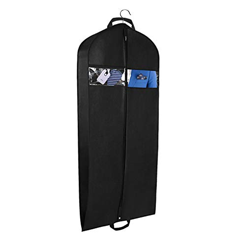 Univivi Garment Bag for Travel and Storage 43' Breathable Suit Bags with Two Zipped Pockets and One Zipped Shoe Bag