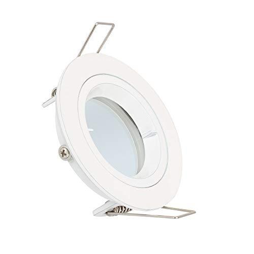 Aro Downlight Circular Blanco para Bombilla LED GU10 / GU5.3 (Blanco)