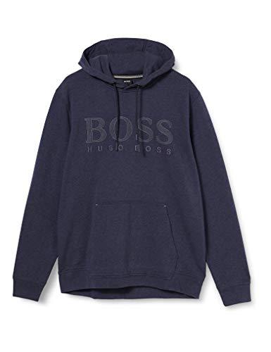 BOSS Mens Weztand Hooded Sweatshirt, Dark Blue (404), XL