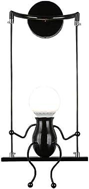 FSTH Simple Poupée De Mode Balançoire Enfants Applique Murale Moderne Salon Chambre Créative De Chevet Mur Lumière Vacances/C