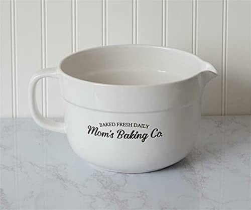 Outlet ☆ Free Shipping MIABE - Shabby Chic Farmhouse Factory outlet Moms Bowl Baking Batter Company Wh