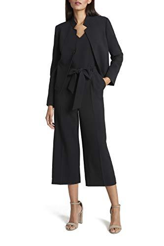 Tahari ASL Women's Stand Collar Cropped Jacket, black, 12