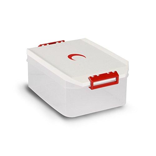 Tatay 1150210 Caja de Almacenamiento Multiusos con Tapa 4.5l de Capacidad plástico Polipropileno Libre de bpa diseño Media Luna, Blanco, 19,2 x 29,7 x 12,4 cm
