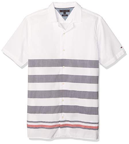 Tommy Hilfiger Herren Breton Shirt S/s Sweatshirt, Weiß, X-Large (Herstellergröße:)