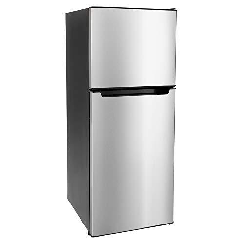 RecPro RV Refrigerator Stainless Steel | 7 Cubic Feet | 12-Volt | Camper Refrigerator | Low Wattage