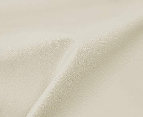 HAPPERS 1 Metro de Polipiel para tapizar, Manualidades, Cojines o forrar Objetos. Venta de Polipiel por Metros. Diseño Beckham Color Crudo Ancho 140cm