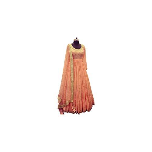 AMIT FASHIONS Frauen im indischen Anarkali-Stil, halbgenähtes Salwar Kameez