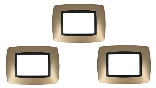 3 Pezzi SANDASDON SD88003-12 Placca 3M Oro Bombe Compatibile Bticino Living International