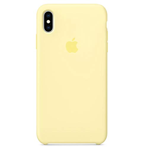 Capa Case Compatível Apple iPhone X 10 Silicone (Aveludado) (Microfibra) Box Lacrada (Mellow Yellow)