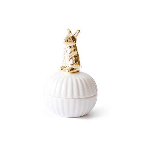 Gwill Animals Caja de cerámica para Joyas, Anillos y Ornamentos, Caja de Regalo para Fiestas, Botella de Almacenamiento Decorativa, Caja de Regalo para Tarro de Caramelos y Chocolate