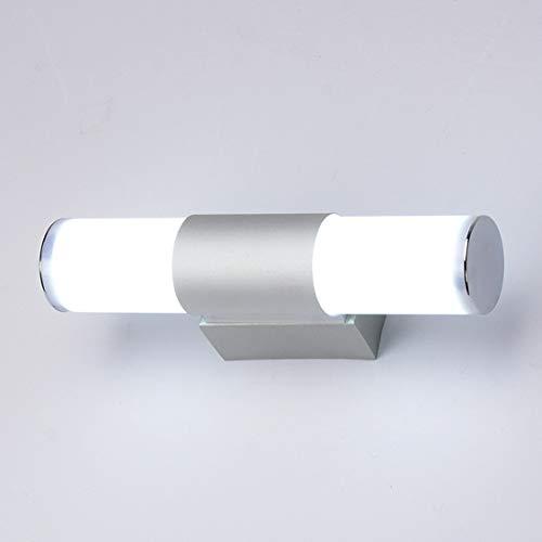 SFOXI Lampada da Specchio LED Applique Bagno Lamp Luce per Il Trucco Bagno Lamp con Interruttore Impermeabile, Lampada da Parete per Guardaroba,Warm Light,12W/25CM