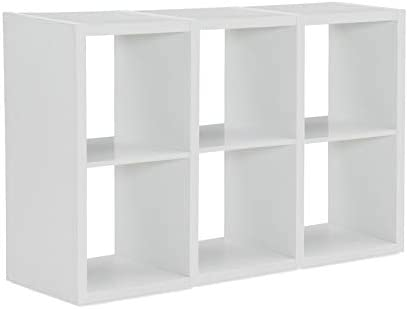Linon Lane Six Cubby Wood Cabinet Popular White in 25% OFF Storage