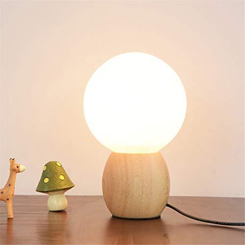 Warme slaapkamer houten tafellamp nachtlampje e27 led gloeilamp warm wit nachtlampje koude schakelaar slaapkamerverlichting
