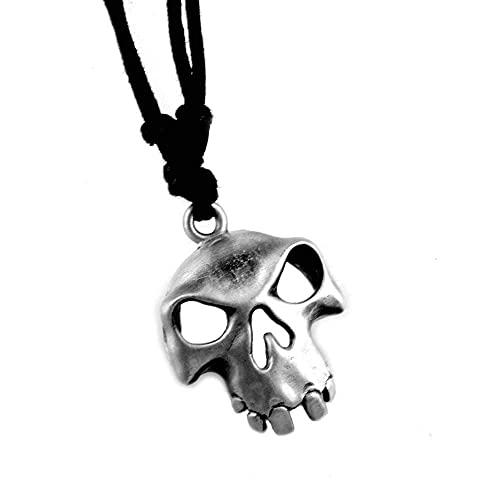 AMOZ Spiel Sea Of Thieves Schlüsselbund Skelett Anhänger Halskette Schlüsselring Männer Frauen Modeschmuck Schlüsselanhänger Geschenk,Halskette