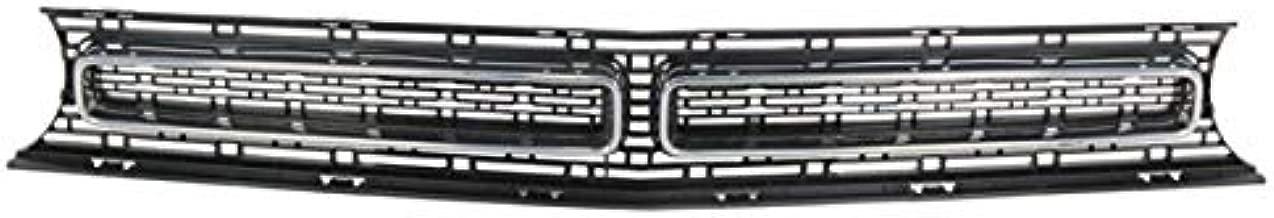 Partomotive For 15-19 Challenger (GT, R/T, SXT) Front Grill Grille Assembly Black w/Chrome Trim