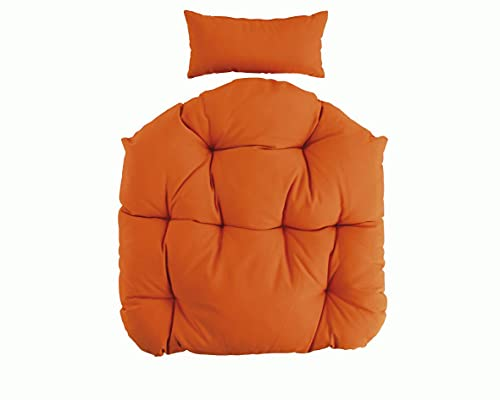 Sitzkissen Kissen für Hänge-Sessel Sitzpolster Rückenpolster Hängekorb-Auflage Schwingsessel (Orange)