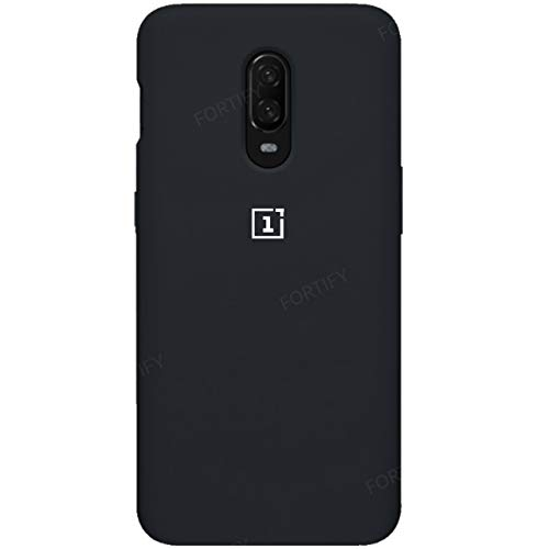 Fortify Soft Back Cover For Oneplus 6T (Black)