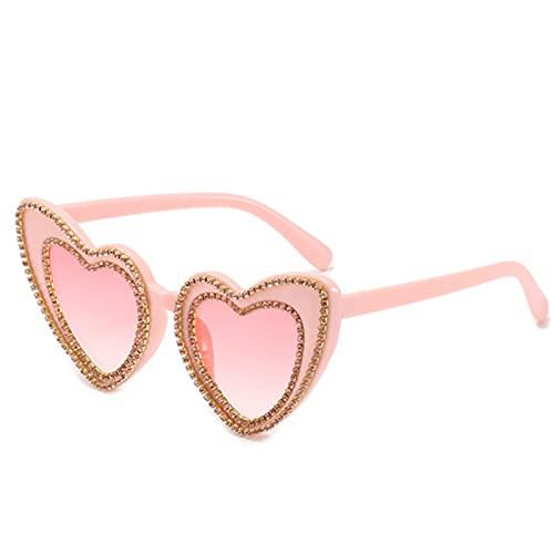 Gafas Sol De Hombre Mujer Polarizadas Sunglasses Gafas De Sol con Forma De Corazón para Mujer, Diseñador De Marca De Lujo, Gafas