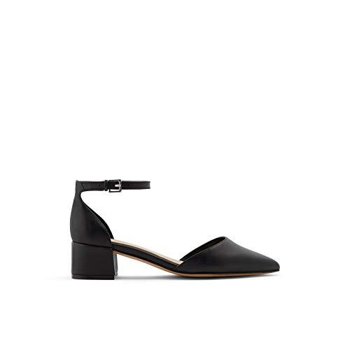 ALDO Women's Zulian Block Heel Pump, Black Other, 8 B US