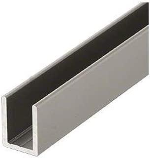 CRL Satin Nickel Frameless Shower Door Aluminum Deep U-Channel for 3/8