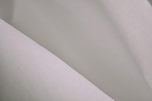 Organic Cotton 230 Thread Count Sateen Fabric - 60 Inches Wide - White - by The Yard