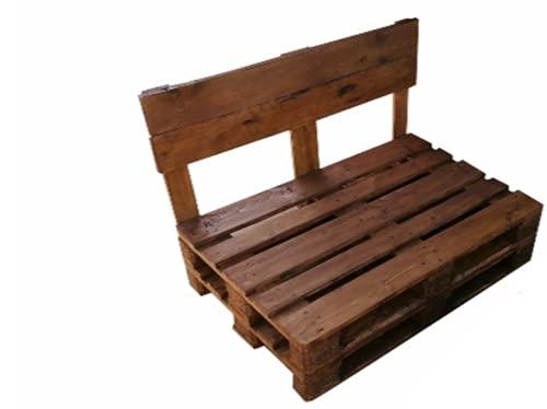 Sofa de palets - Sofas para Jardin, Terrazas, Patio, Mobiliario, Muebles con pallets de Madera - Bancos Rusticos (Nogal Claro, 120 x 60 cm)