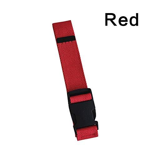 Gürtel Damen Plastikschnalle Leinwand Langer Gürtel Schwarz Rot Weiß Weiblicher Gürtel Gürtel Mädchen Jeans Jeans Hosen Gürtel Rot